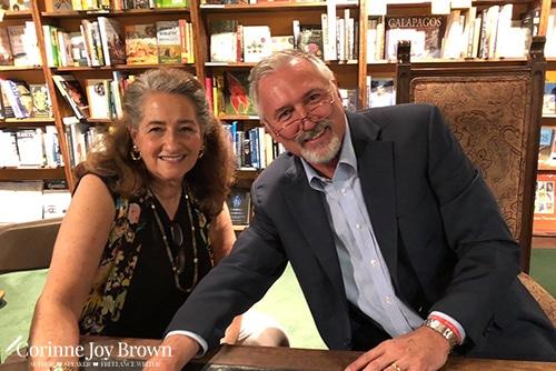Corinne with good friend Lorenzo Trujillo